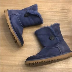 UGG Womens Bailey Button Boots Blue Size 9 item#